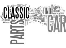 Where To Find Classic Car Parts Word Cloud Stock Image