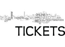 Where To Find Concert Tickets And Other Event Tickets Word Cloud. WHERE TO FIND CONCERT TICKETS AND OTHER EVENT TICKETS TEXT WORD CLOUD CONCEPT Stock Image