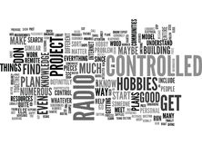 Where To Find Guidance On A Radio Controlled Project Word Cloud Stock Images