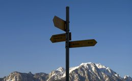 Where to go - travel high. Where to go - Alps travel Royalty Free Stock Photography