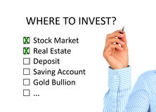 Where to invest concept. Royalty Free Stock Image
