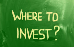Where To Invest Concept Stock Photo