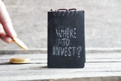 Where To Invest. Investor idea. Royalty Free Stock Images