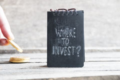 Where To Invest. Investor idea. Royalty Free Stock Photo