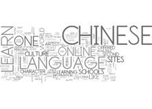 Where To Learn Chinese Online Word Cloud Royalty Free Stock Photography