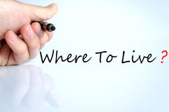 Where To Live Concept. Over White Background royalty free stock image