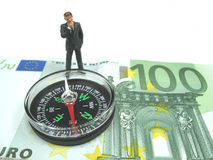 Where to make money. A businessman wondering where to make money royalty free stock photography