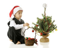 Where to Put the Ornament? Stock Photos