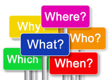 Where? What? Why? Whitch? When? Who?. Questions Where? What? Why? Whitch? When? Who vector illustration