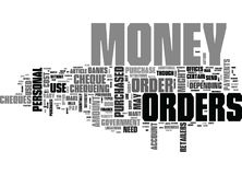 Where And Why To Get Money Orders Word Cloud. WHERE AND WHY TO GET MONEY ORDERS TEXT WORD CLOUD CONCEPT Stock Photos