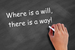 Where is a will, there is a way! Stock Images