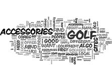 Where You Can Buy Useful Golf Accessories Word Cloud Stock Image