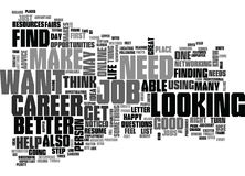 Where You Can Find Advice About Careers For You Word Cloud Royalty Free Stock Image