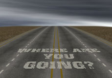 Where are you going Stock Image