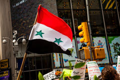 Where You From?. New York City protest of Syrian invasion Royalty Free Stock Images