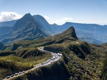 Col des boeufs Mafate Reunion Island royalty free stock image