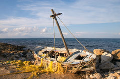Wherry shipwreck Royalty Free Stock Image