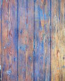 Whethered blue painted wood background Royalty Free Stock Photography