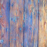 Whethered blue painted wood background Stock Images