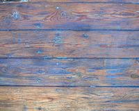 Whethered blue painted wood background Stock Photos