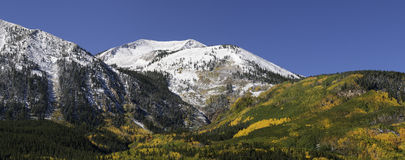 Whetstone Mountain located near Crested Butte. Whetstone Mountain 12,522 ft or 3817 meters is located near Crested Butte within Gunnison National Forest royalty free stock photography