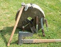 Whetstone for sharpening tools Stock Photo