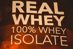 Whey isolate protein royalty free stock images