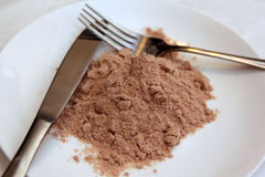 Whey protein as meal replacement Royalty Free Stock Photos