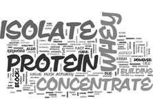 Whey Protein Isolate Word Cloud. WHEY PROTEIN ISOLATE TEXT WORD CLOUD CONCEPT Royalty Free Stock Image