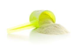 Whey protein powder. Royalty Free Stock Image
