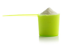 Whey protein powder. Stock Images