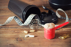 Whey protein powder Royalty Free Stock Photo