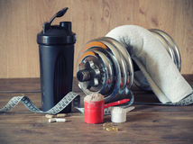 Whey protein powder Stock Photography