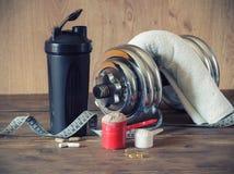 Whey protein powder Stock Photography