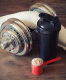 Whey protein powder Stock Images