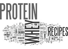 Whey Protein Recipes Word Cloud Stock Photos