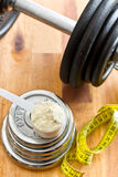 The whey protein Royalty Free Stock Images