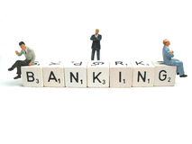 Which bank to choose Royalty Free Stock Photos