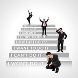 Which business steps are you now? Royalty Free Stock Photo