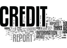 Which Credit Bureau Should I Use To Check My Credit Report Word Cloud Stock Image