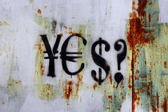 Which currency? Stock Photo