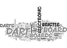 Which Dart Board Bristle Vs Electronic Dart Boards Word Cloud Stock Photography