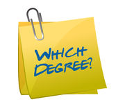 Which degree post question illustration design Royalty Free Stock Image