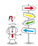 Which direction. Karen wants to find a solution. you walk your way Karen, its your choice Stock Image
