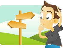 Which direction should be taken? Royalty Free Stock Image