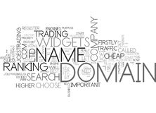 Which Domain Name Do I Choose Word Cloud Stock Image