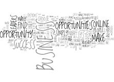 Which Online Business Opportunity Will You Choose Word Cloud. WHICH ONLINE BUSINESS OPPORTUNITY WILL YOU CHOOSE TEXT WORD CLOUD CONCEPT Royalty Free Stock Photography