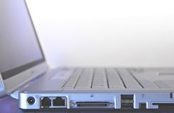 Which port. Laptop side porting Stock Photography