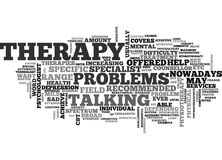 Which Therapy Word Cloud Stock Photo