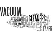 Which Vacuum Cleaner Is Right For You Word Cloud Stock Photo